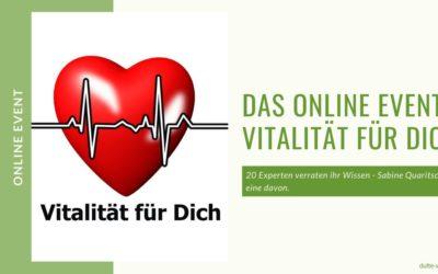 Vitalität für Dich – der Online Kongress vom 7 – 19. April 2020