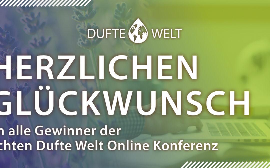 Die Gewinner des Gewinnspiels der achten Online Konferenz