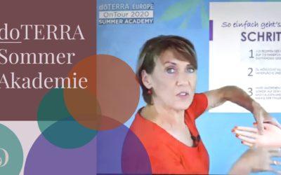 doTERRA Sommerakademie 2021: Ausschnitt aus Sabines Beitrag zur AromaTouch Handanwendung
